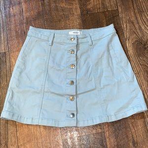 Light blue mini skirt
